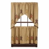 Stratton Burlap Applique Star Tier Set of 2 L24xW36