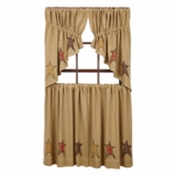 Stratton Burlap Applique Star Tier Set of 2 L36xW36