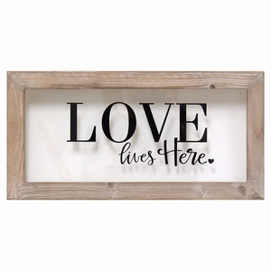 SHD-SHD0093 Love Lives Here Framed Art