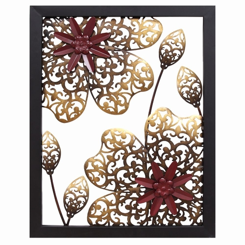 Buy Stratton Home Dcor Metal Flower Panel Wall Dcor at
