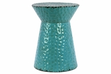 Striking Blue Round Shaped Metal Stool