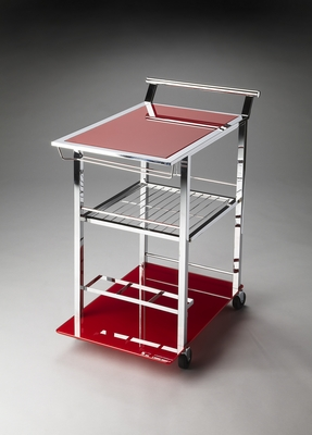 Striking Florio Modern Serving Cart by Butler Specialty