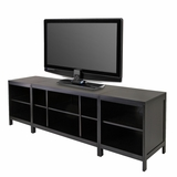 Striking Hailey 3pc Media Center, Modular by Winsome Woods