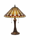 Striking Multi Shaded Tiffany Styled Table Lamp by Chloe Lighting