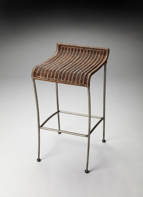 Striking Styled Bora Bora Wicker Bar Stool by Butler Specialty
