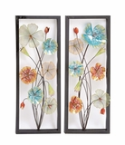 Striking Styled Metal Wall Decor 2 Assorted by Woodland Import