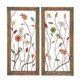 Striking Styled Metal Wall Panel 2 Assorted by Woodland Import