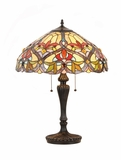 Striking Tiffany Styled Victorian Table Lamp by Chloe Lighting