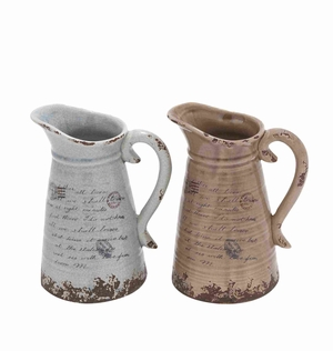Strongly Built Ceramic Pitcher with Intricate Aesthetic Detailing Brand Woodland