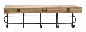 Strongly Built Metal Wood Wall Shelf Hooks for Multiple Use Brand Woodland