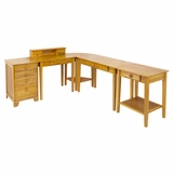 Studio 5pc Home Elegant Office Set Honey Pine Finish by Winsome Woods