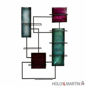 Stunning and Colorful Santa Maria Wine Storage Metallic Wall Sculpture by Southern Enterprises