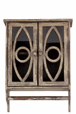 Stunning and Compact Wooden Cabinet with Oval Pattern