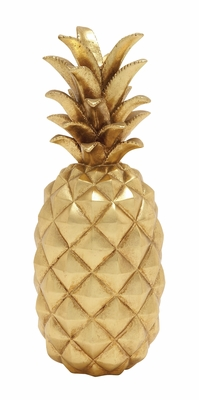 Stunning And Sparkly Golden Pineapple D?cor - 62361 by Benzara