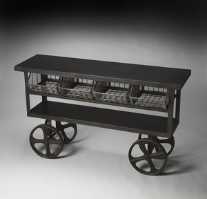 Stunning Antietam Industrial Chic Trolley Buffet by Butler Specialty