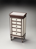 Stunning Celeste Mirror & Mahogany Jewlery Chest by Butler Specialty