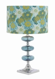 Stunning Metal and Glass Table Lamp with Fabulous Shape Brand Woodland