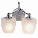 Stunning Piece of 2 Lights Vanity Lighting in Chrome Frame by Yosemite Home Decor