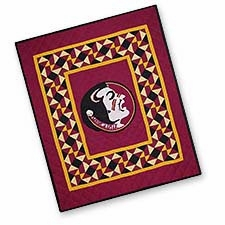Stunning Quilted Throws with the Florida State University Logo Brand C&F