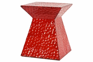 Stunning Red Sparkling Metal Stool