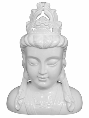 Stunning Styled Ceramic Buddha Head Figurine by Three Hands Corp