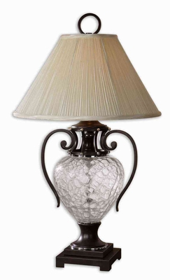 Sturbridge Glass Table Lamp with Bronze Detailing Brand Uttermost