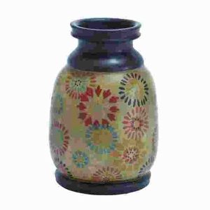 Durable Terracotta Pot With Dainty Floral Motifs - 38127 by Benzara