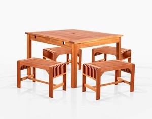 Sturdy and Large Dining Set with square table, and Arm Chairs 10