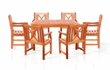 Sturdy and Large Dining Set w/ square table, and armchairs by Vifah