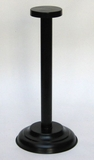 Sturdy and Long Lasting Iron Helmet Stand in Black by IOTC