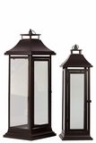 Sturdy & Attractive Metal Lanterns Set of Two in Black
