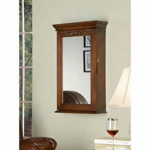 Sturdy Construction Morris Wall Armoire with Lock in Coffee Brand Nathan