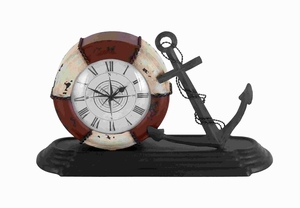Sturdy Durable Metal Table Clock with Sophisticated Style Brand Woodland