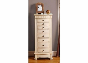 Sturdy Muscat 8 Drawer Jewelry Armoire with Sharp Edges Brand Nathan