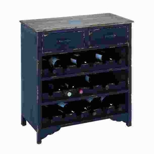 Wooden Wine Cabinet with Additional Storage Space - 35035 by Benzara