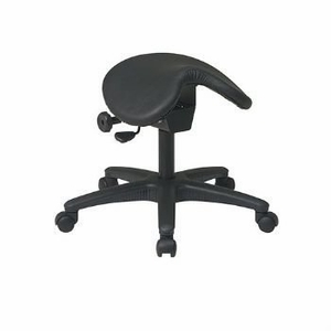 Styled Pneumatic Drafting Chair. Backless stool with Saddle Seat by Office Star