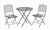 Stylish and Comfortable Metal Bistro with Refined Look (Set of 3) Brand Woodland