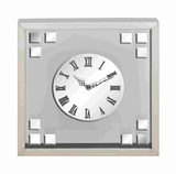 Stylish and Elegant Square Shaped Clock Brand Benzara