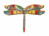 Stylish and Rusty Dragonfly Wall Plaque by Woodland Import