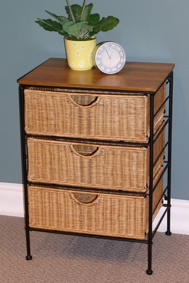 Stylish and Trendy Storage Stand with Wicker Make by 4D Concepts