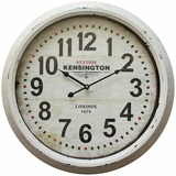 Stylish Circular White Iron Wall Clock with glass by Yosemite Home Decor
