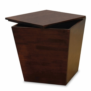 Winsome Wood Stylish Cubic Wooden Mesa Storage End Table