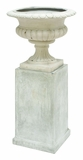 Stylish Fiber Stone Urn with Fine Detailings - Set of 2 Brand Woodland