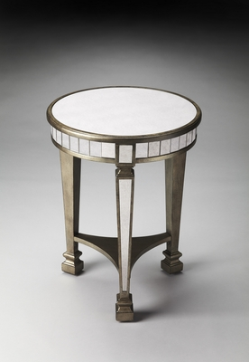 Stylish Garbo Mirrored End Table by Butler Specialty