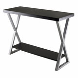 Stylish Korsa Console Table with Black Finish by Winsome Woods