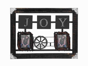 Stylish Metal Wall Photo Frame with Miter Joint and Rusty Finish  by Benzara