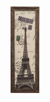 Stylish Paris Eiffel Tower Tourist Destination Wall Art Decor Brand Woodland