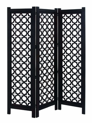 Stylish Room Divider Wooden Three Panel Screen Brand Woodland
