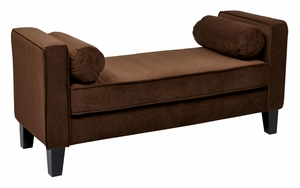 Curves Bench in Chocolate Velvet