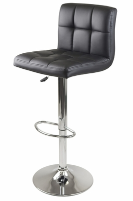 Winsome Wood Stylish Stockholm Airlift Swivel Stool with Faux leather